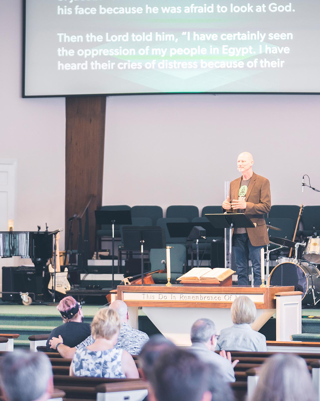 Pastor Roger Haskins at Pearce Church in Rochester, NY
